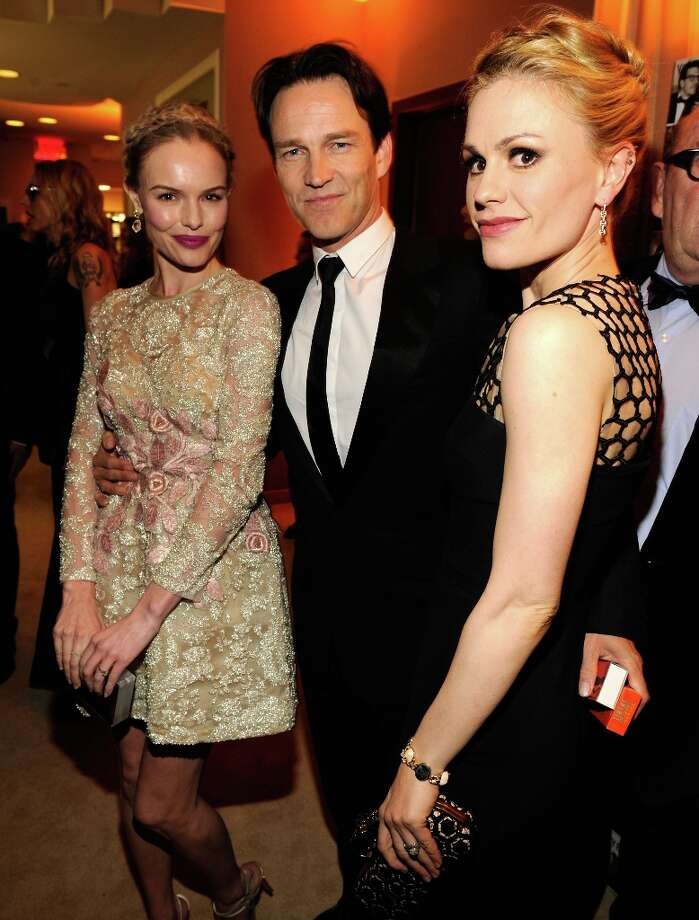 Kate Bosworth, Stephen Moyer and Anna Paquin attend the 2013 Vanity Fair Oscar Party hosted by Graydon Carter at Sunset Tower on February 24, 2013 in West Hollywood, California. Photo: Kevin Mazur/VF13, WireImage / 2013 Kevin Mazur/VF13