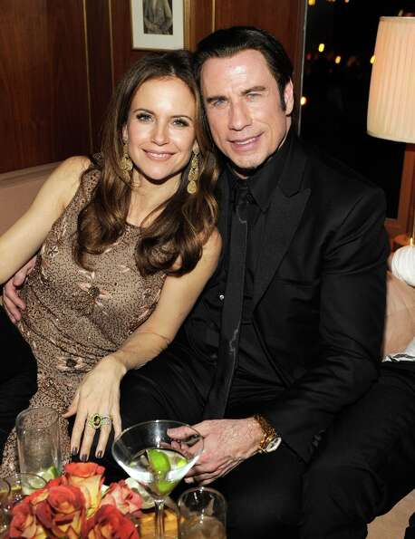 Kelly Preston and John Travolta  attend the 2013 Vanity Fair Oscar Party hosted by Graydon Carter at