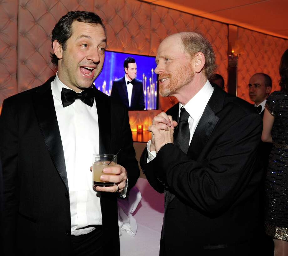 Judd Apatow and Ron Howard  attend the 2013 Vanity Fair Oscar Party hosted by Graydon Carter at Sunset Tower on February 24, 2013 in West Hollywood, California. Photo: Kevin Mazur/VF13, WireImage / 2013 Kevin Mazur/VF13