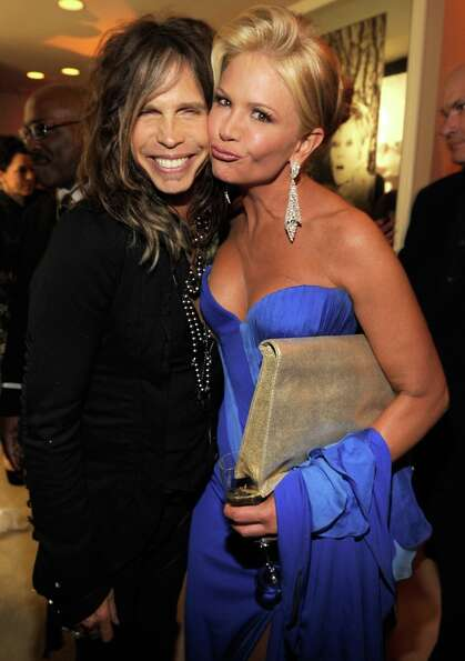 Steven Tyler and Nancy O'Dell attend the 2013 Vanity Fair Oscar Party hosted by Graydon Carter at Su