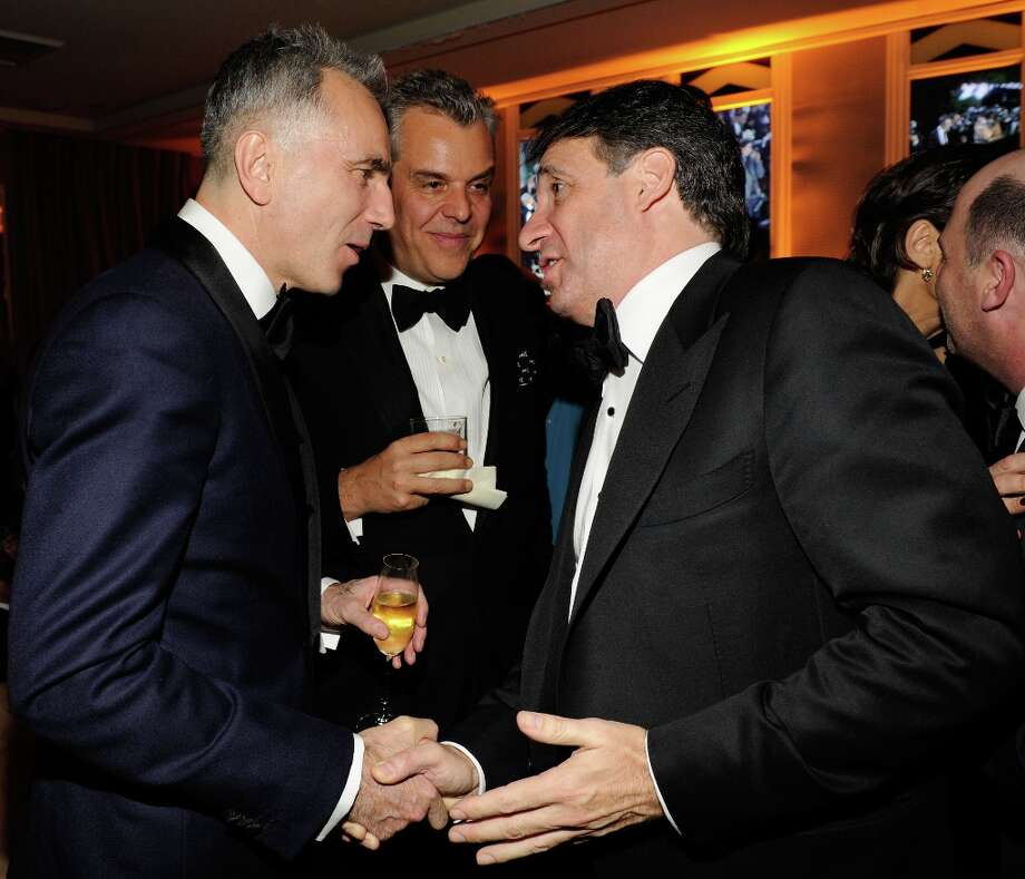 Daniel Day-Lewis and Co-Founder and Chief Executive Officer of Getty Images, Inc. Jonathan Klein attend the 2013 Vanity Fair Oscar Party hosted by Graydon Carter at Sunset Tower on February 24, 2013 in West Hollywood, California. Photo: Kevin Mazur/VF13, WireImage / 2013 Kevin Mazur/VF13