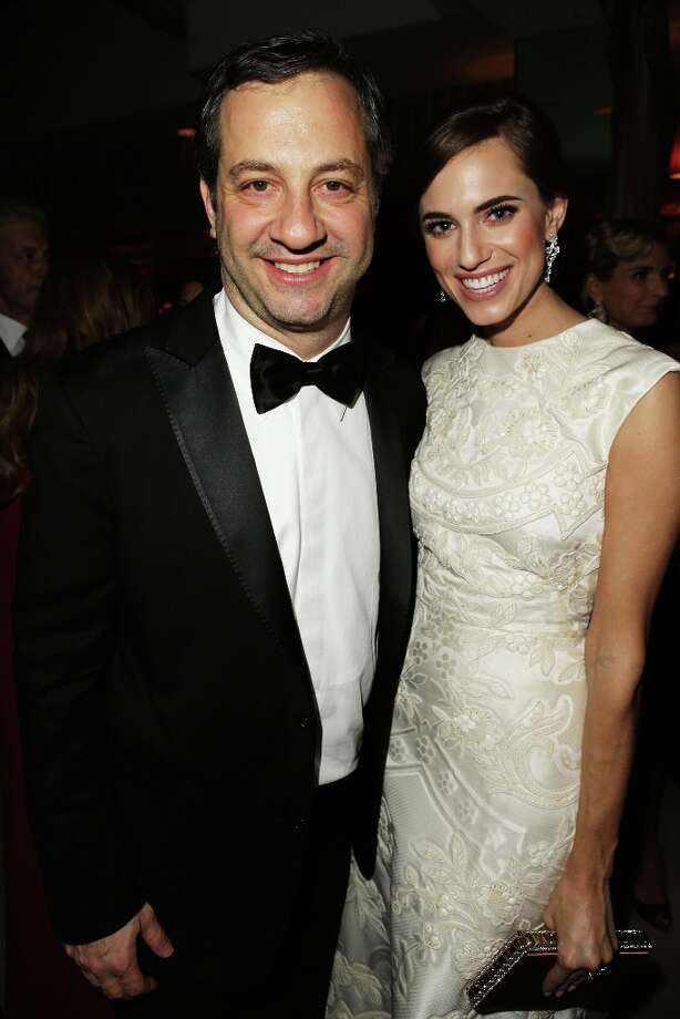 Producer Judd Apatow (L) and actress Allison Williams attends the 2013 Vanity Fair Oscar Party hosted by Graydon Carter at Sunset Tower on February 24, 2013 in West Hollywood, California. Photo: Jeff Vespa/VF13, WireImage / 2013 Jeff Vespa/VF13