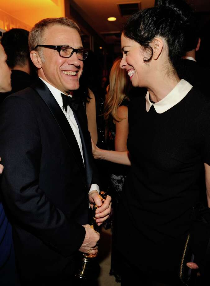 Christoph Waltz and Amanda Silverman attend the 2013 Vanity Fair Oscar Party hosted by Graydon Carter at Sunset Tower on February 24, 2013 in West Hollywood, California. Photo: Kevin Mazur/VF13, WireImage / 2013 Kevin Mazur/VF13