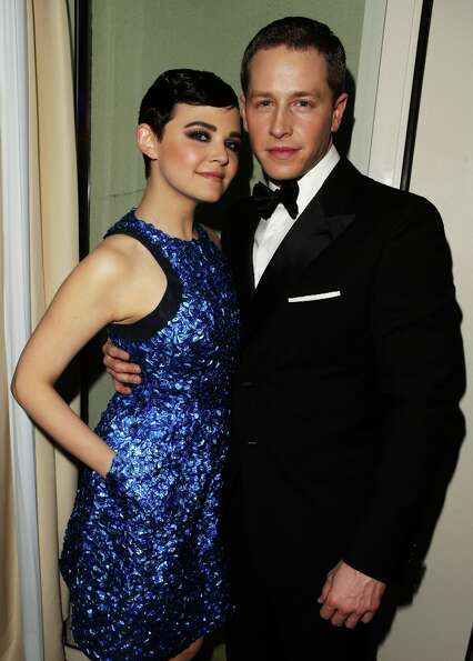 Actors Ginnifer Goodwin (L) and Josh Dallas attend the 2013 Vanity Fair Oscar Party hosted by Graydo