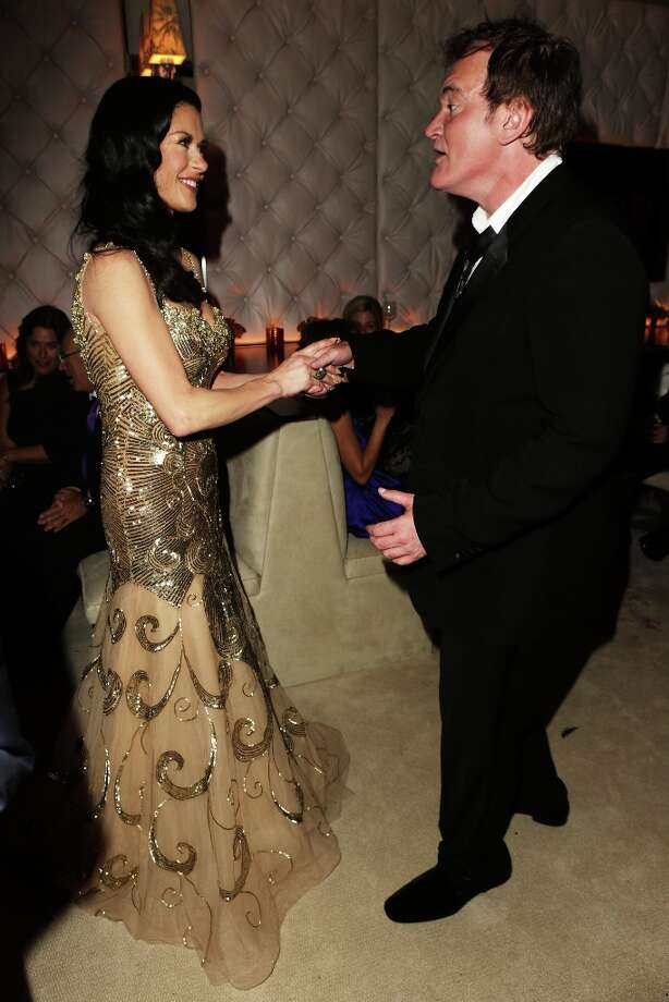 Actress Catherine Zeta-Jones and writer/director Quentin Tarantino attend the 2013 Vanity Fair Oscar Party hosted by Graydon Carter at Sunset Tower on February 24, 2013 in West Hollywood, California. Photo: Jeff Vespa/VF13, WireImage / 2013 Jeff Vespa/VF13