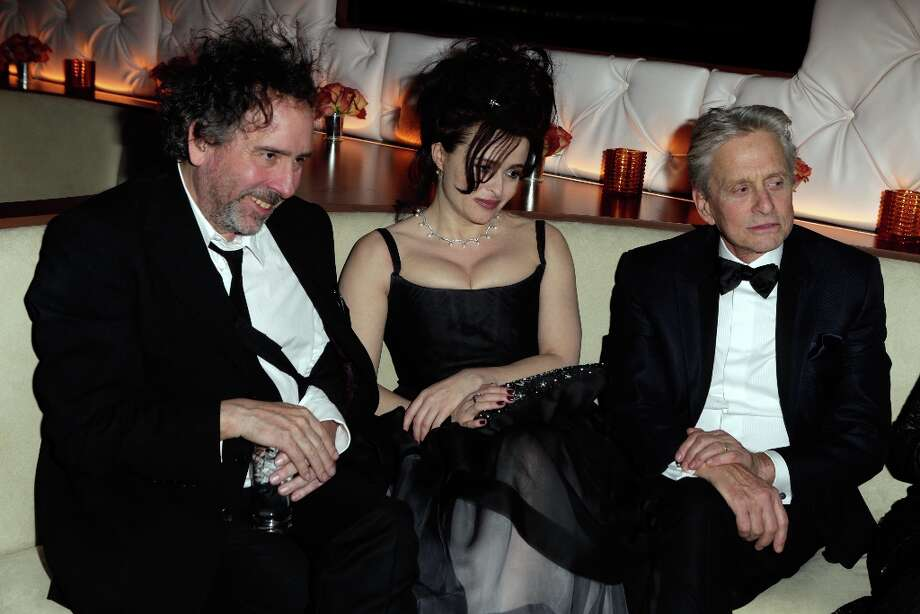 Director Tim Burton, actors Helena Bonham Carter and Michael Douglas attend the 2013 Vanity Fair Oscar Party hosted by Graydon Carter at Sunset Tower on February 24, 2013 in West Hollywood, California. Photo: Jeff Vespa/VF13, WireImage / 2013 Jeff Vespa/VF13