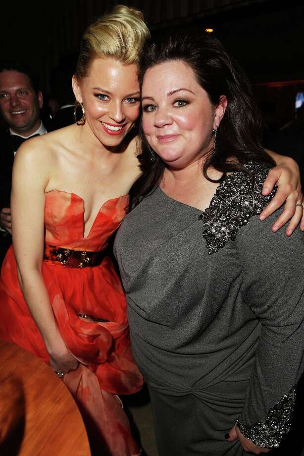 Actors Elizabeth Banks and Melissa McCarthy attend the 2013 Vanity Fair Oscar Party hosted by Graydon Carter at Sunset Tower on February 24, 2013 in West Hollywood, California. Photo: Jeff Vespa/VF13, WireImage / 2013 Jeff Vespa/VF13