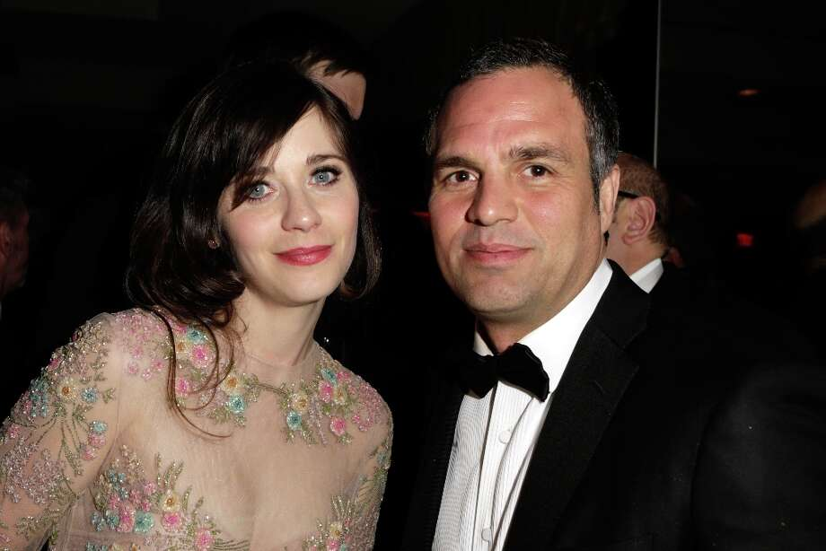 Actors Zooey Deschanel and Mark Ruffalo attends the 2013 Vanity Fair Oscar Party hosted by Graydon Carter at Sunset Tower on February 24, 2013 in West Hollywood, California. Photo: Jeff Vespa/VF13, WireImage / 2013 Jeff Vespa/VF13