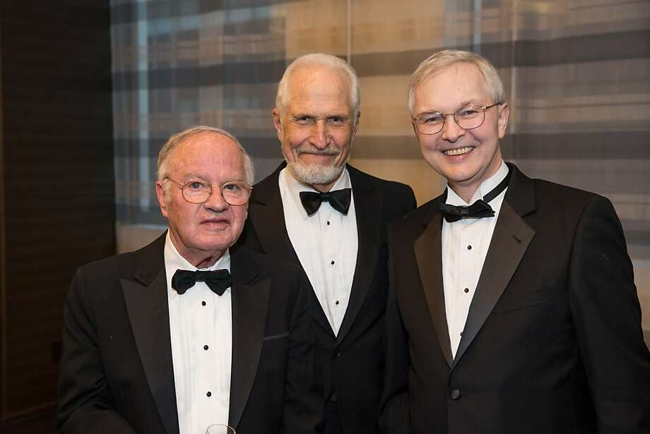 Wray Humphrey, Don Buhman and Ross Armstrong at the Philharmonia Baroque Orchestra Winter Gala & Auction on February 22, 2013. Photo: Drew Altizer Photography