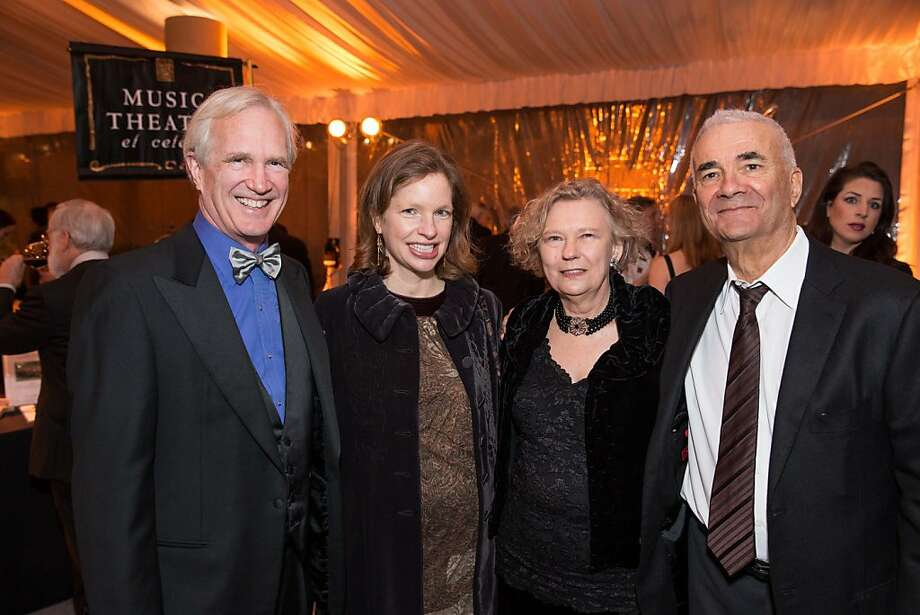 Hayne Leland, Kit Leland, Kathy Cohn and Martin Cohn at the Philharmonia Baroque Orchestra Winter Gala & Auction on February 22, 2013. Photo: Drew Altizer Photography