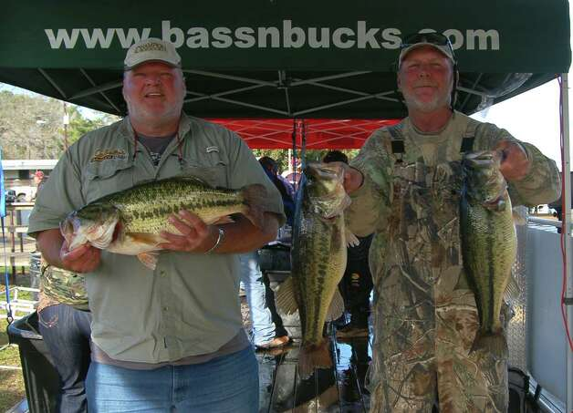 Brothers Andy and Malcolm Williams had a hefty sack of fish taking 2nd place with 26.57 lbs.  They also won Big Bass honors with Malcolm's 9.76 lb catch  Photo by Patty Lenderman, Lakecaster