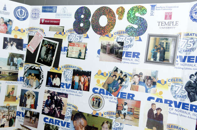 Carver Center memorabilia from the 1980s on display during the 75th anniversary alumni reunion at the center in Norwalk on Friday, Feb. 22, 2013. Photo: Amy Mortensen / Connecticut Post Freelance