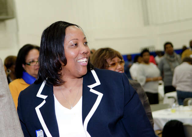 Novelette Peterkin, Carver Center Executive Director, smiles during the 75th anniversary alumni reunion at the center in Norwalk on Friday, Feb. 22, 2013. Photo: Amy Mortensen / Connecticut Post Freelance