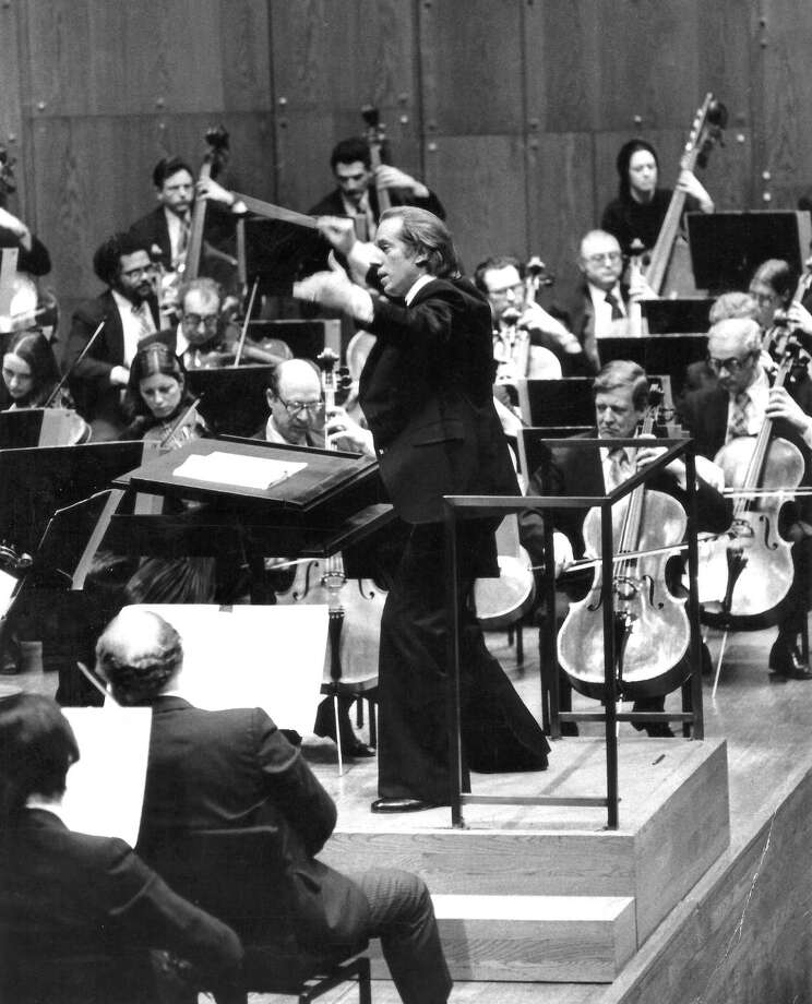 David Gilbert conducts the New York Philharmonic in concert in the early 1970s. Photo: Contributed Photo