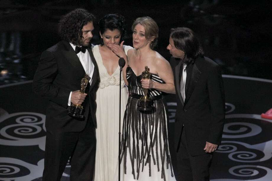 The makers and subject of 'Inocente,' winner of best documentary short