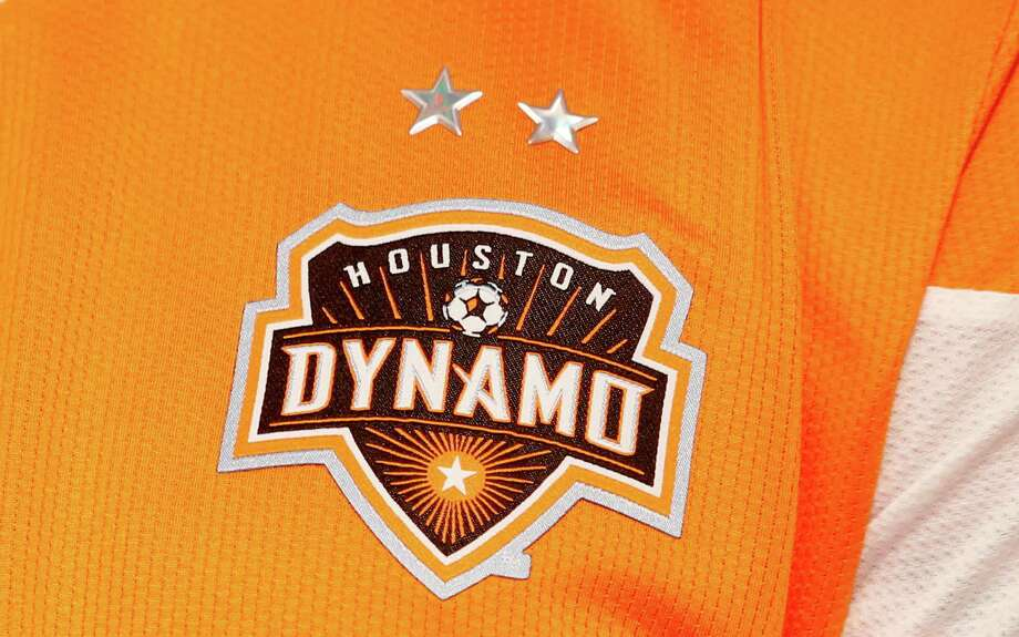 2/25/13:  A detail shot of the  new Houston Dynamo uniform unveiling at BBVA Stadium in Houston Texas. The new uniforms are a lighter material and have two stars above the Dynamo logo representing the two MLS Cup Championships and a Texas Flag on the bottom of the shirt. Photo: Thomas B. Shea, For The Chronicle / © 2012 Thomas B. Shea