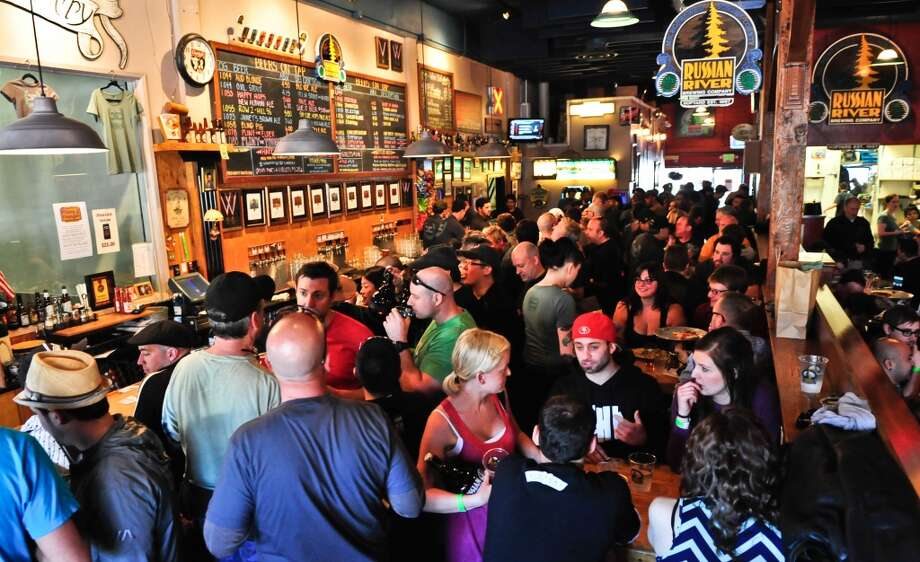 The crowd at Russian River Brewing Co. during the Pliny the Younger weeks