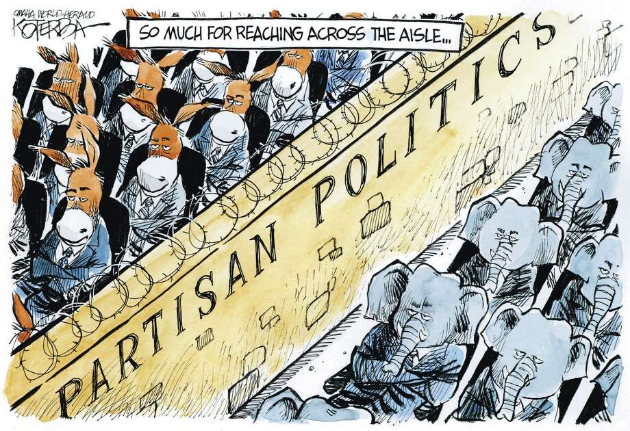 "Jeff Koterba color cartoon for 5/16/2012 ""Partisan Politics"""
