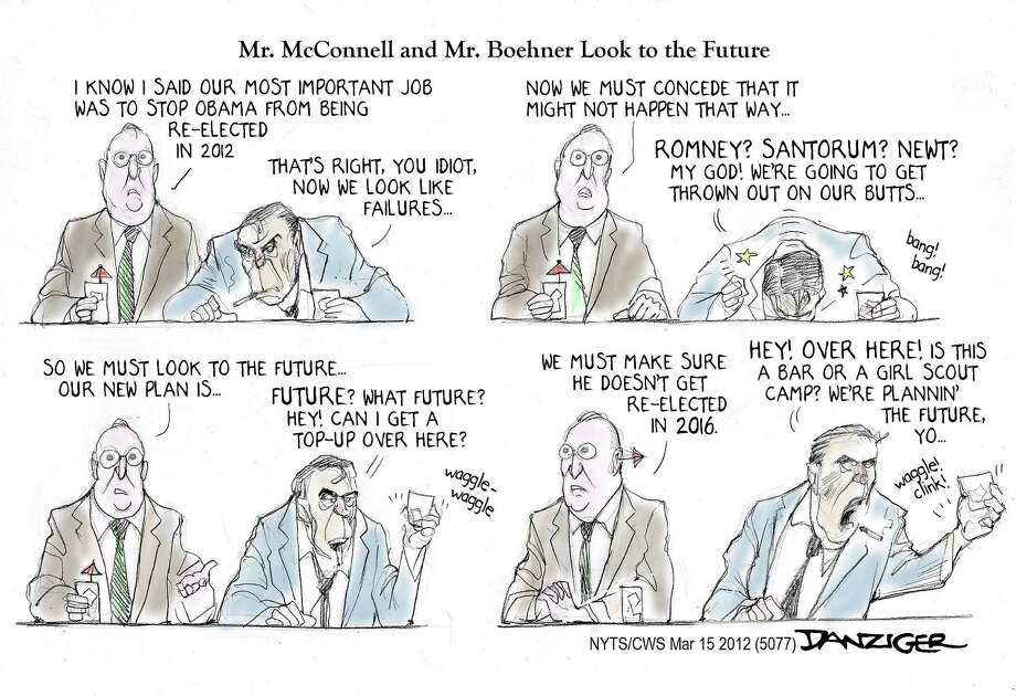 Mitch McConnell, John Boehner, GOP Future, political cartoon Photo: JEFF DANZIGER / c Jeff Danziger 2012