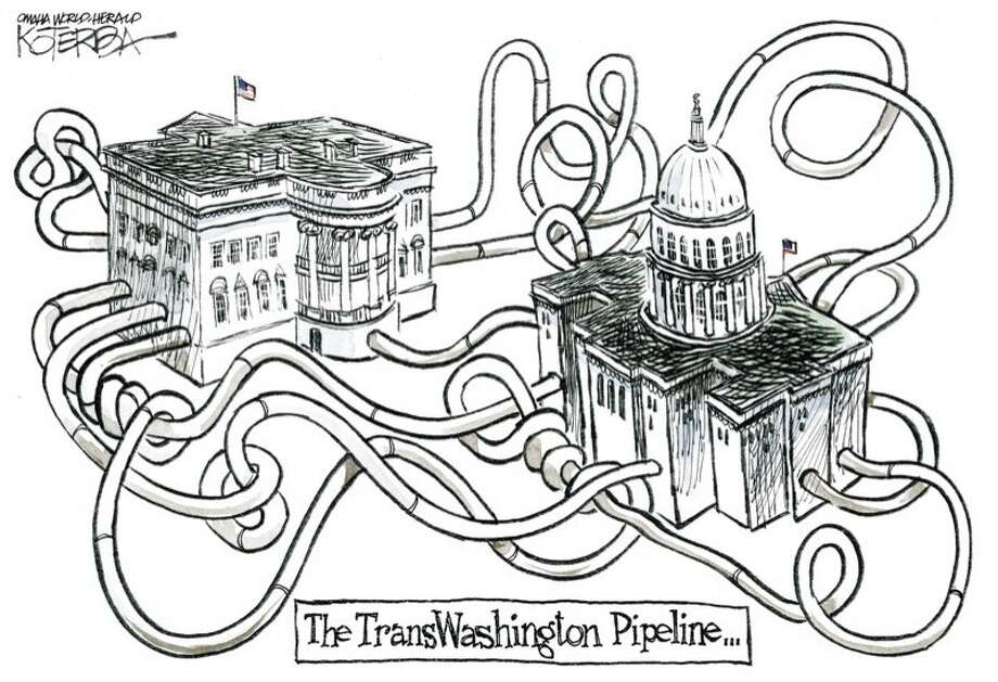 Jeff Koterba color Cartoon For 1/22/2012, Pipeline Photo: Jeff Koterba / Jeff Koterba - Omaha World-Heral