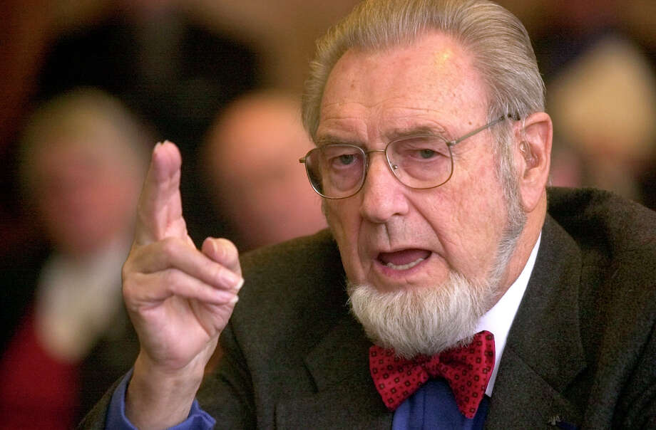 FILE - In this Feb. 12, 2002 file photo, former U.S. Surgeon General, Dr. C. Everett Koop testifies in Concord, N.H. Koop, who raised the profile of the surgeon general by riveting America's attention on the then-emerging disease known as AIDS and by railing against smoking, has died in New Hampshire at age 96. (AP Photo/Jim Cole, File) Photo: Jim Cole