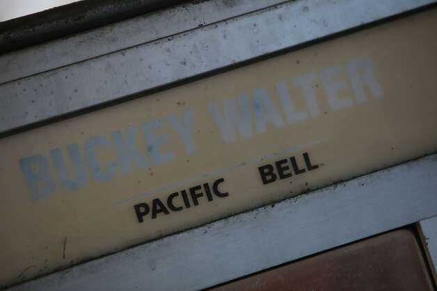 "A faded sign in the restaurant shows the Boontling term for ""phone booth."" Photo: Lea Suzuki, The Chronicle"