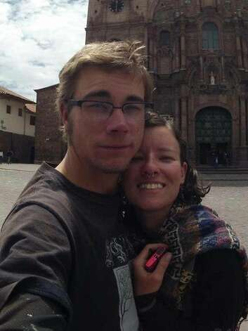 Oakland couple Garrett Hand and Jamie Neal, both 25, went missing while on a bike trip in Peru. Their families say they have been spotted on a boat on a river in Peru. Photo: Courtesy