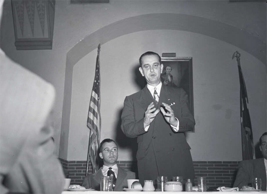 Lyndon Johnson in Houston, 1948.
