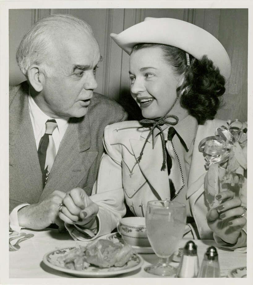 Houston Mayor Oscar Holcombe and Dale Evans, 1950.