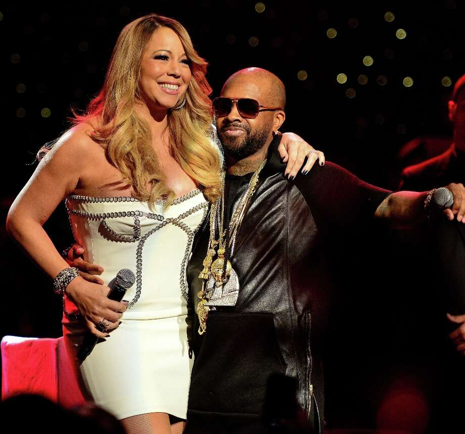 Mariah Carey and Jermaine Dupri on stage at the So So Def 20th anniversary concert at the Fox Theater on February 23, 2013 in Atlanta, Georgia. Photo: Prince Williams, Getty Images / 2013 Prince Williams