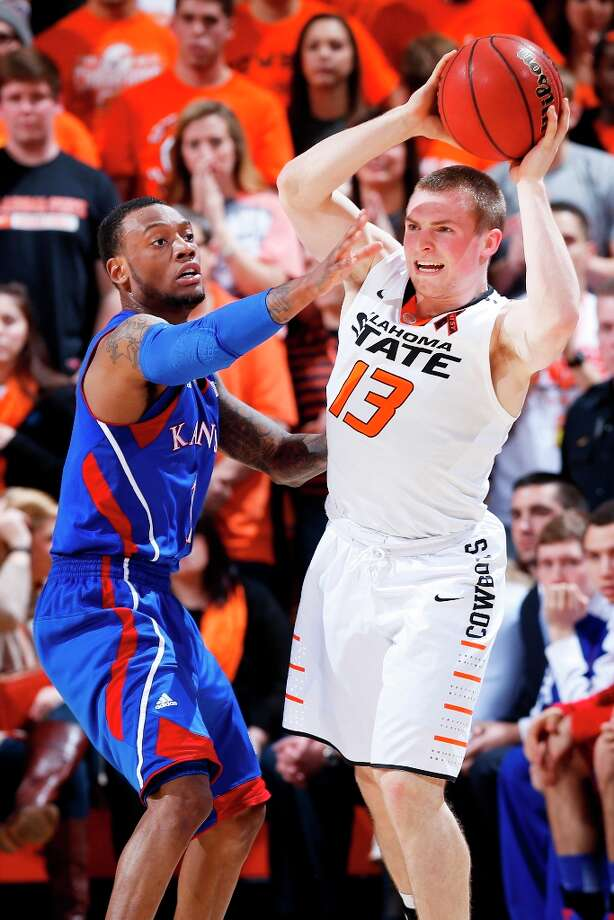 Not:  Oklahoma State G Phil Forte, who missed all eight shots from the field in the Cowboys' victory at West Virginia. Forte is hitting 23.5 percent from the field and 10 percent from 3-point territory during his last two games. Photo: Joe Robbins, Getty Images / 2013 Getty Images