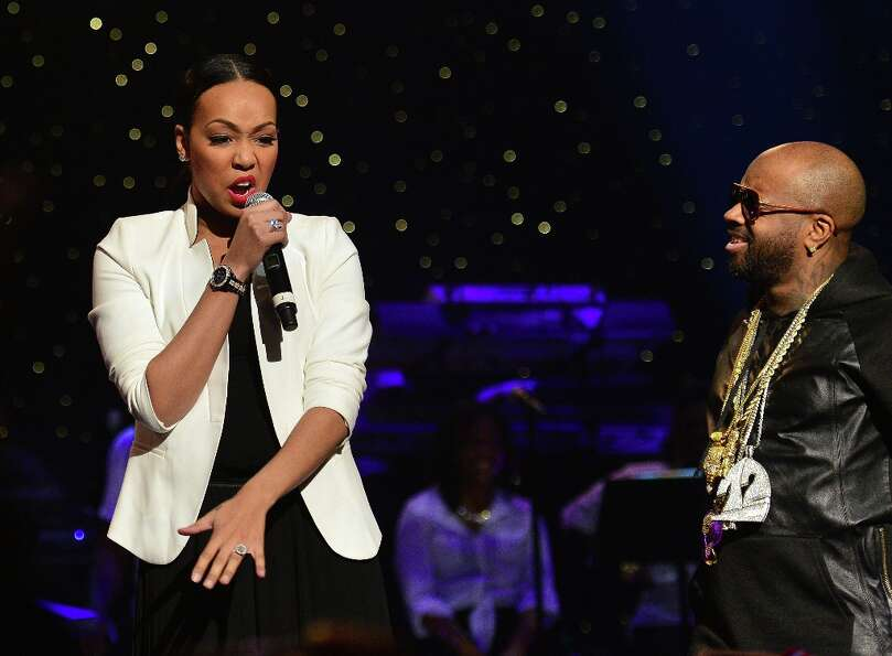 Monica and Jermaine Dupri perform at the So So Def 20th anniversary concert at the Fox Theater on Fe