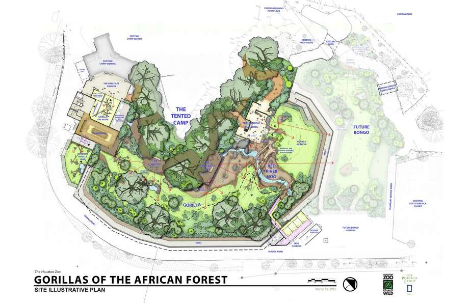 The Houston Zoo's $28 million Gorillas of the African Forest Exhibit is scheduled to open in spring 2015.. Photo: Houston Zoo