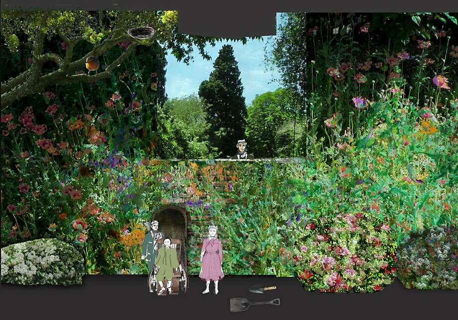 """Secret Garden"" storyboard about the transformation of a garden, an orphan and a family. Photo: S.F. Opera"