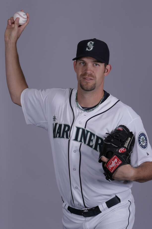 Tom Wilhelmsen | 54 | right-handed pitcher (40-man roster)Age: 29 | Birthplace: Tuscon, Ariz.Fun fact: Is nicknamed ''The Bartender'' because he became a bartender in Tuscon, Ariz., after giving up on a minor-league baseball career with the Brewers organization. But in 2009 he quit smoking and, after marrying his wife Cassie, decided to get back into baseball and got signed in 2010 by the Mariners.