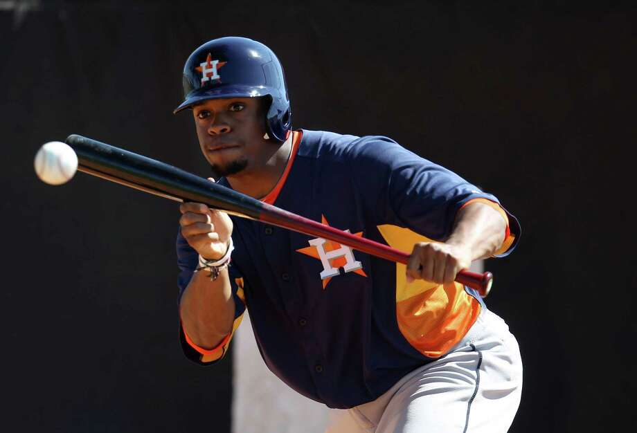 Delino DeShields is finding ways to take advantage of his speed, which produced 101 stolen bases last season in 135 Class A games. Photo: Karen Warren, Staff / © 2013 Houston Chronicle
