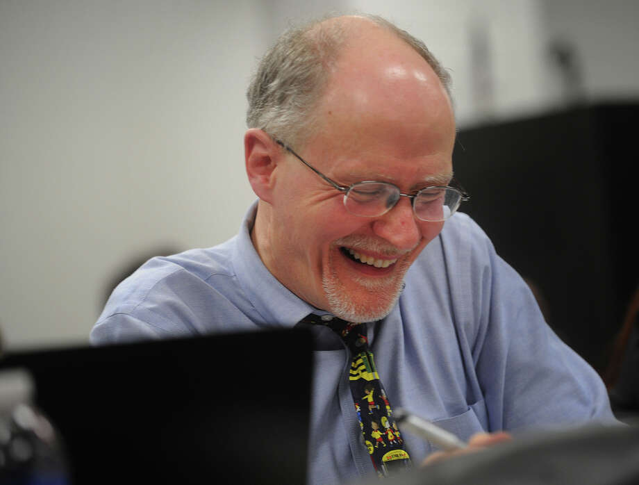 Supt. of Schools Paul Vallas smiles during the Bridgeport Board of Education meeting at the Aquaculture School in Bridgeport on Monday, February 25, 2013. Photo: Brian A. Pounds / Connecticut Post