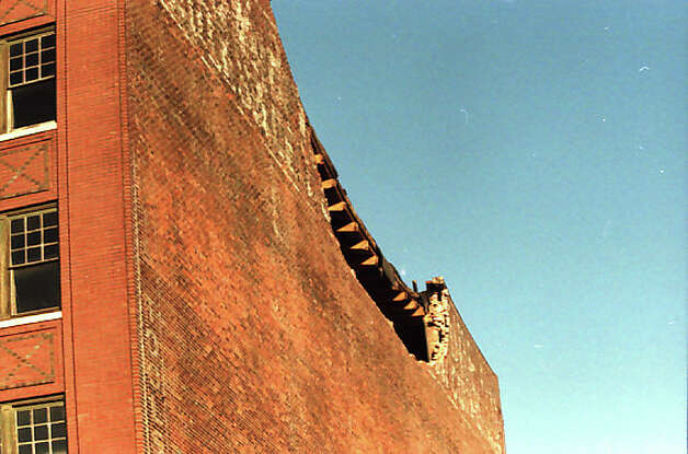 This is one of the buildings near Safeco Field that was damaged in the 2001 Nisqually earthquake. This image has been preserved by the P-I and the Museum of History and Industry, but not previously published. Photo: Phil H. Webber/MOHAI Seattle Post-Intelligencer Collection/seattlepi.com File