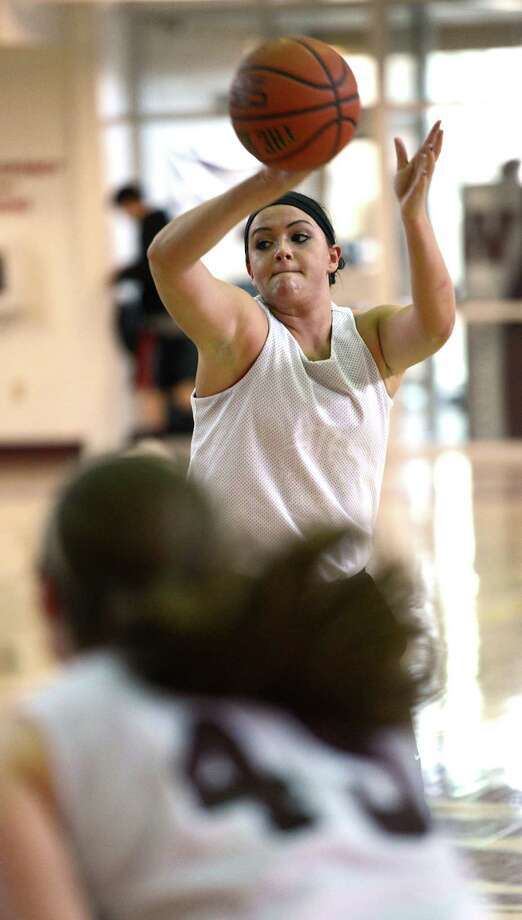 Watervliet Hi senior Mikayla Deguire practices Feb. 25, 2013 in Watervliet, N.Y. Photo: SKIP DICKSTEIN