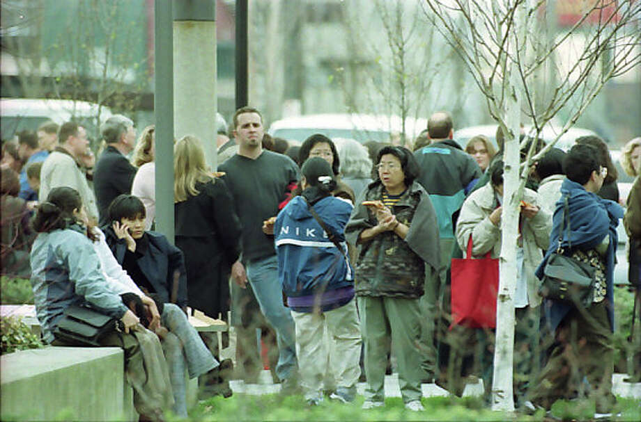 Here's a previously unpublished image from the Sodo neighborhood following the 2001 Nisqually quake, which left one person dead and injured roughly 400. Photo: Don Marquis/MOHAI Seattle Post-Intelligencer Collection/seattlepi.com File