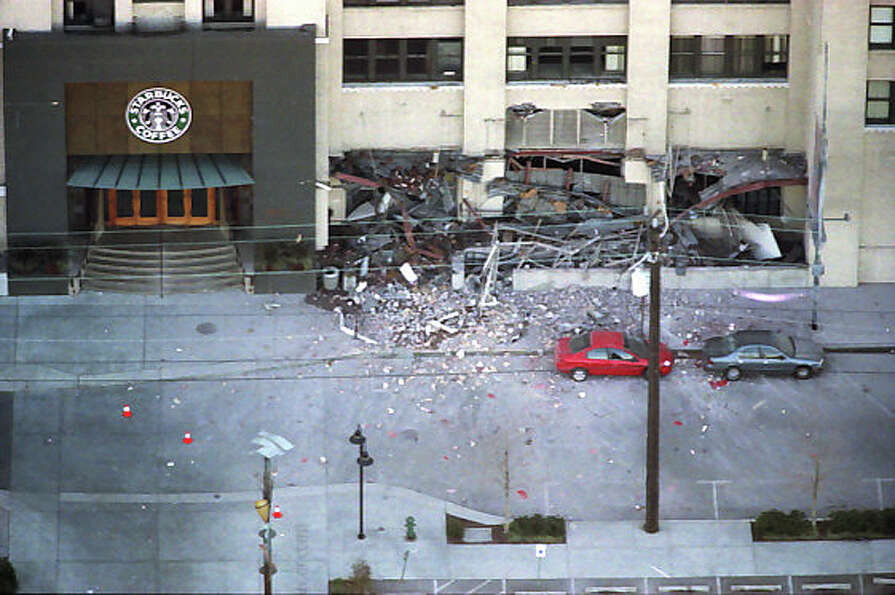 The Starbucks headquarters in Sodo suffered extensive damage from the Feb. 28, 2001 Nisqually earthq