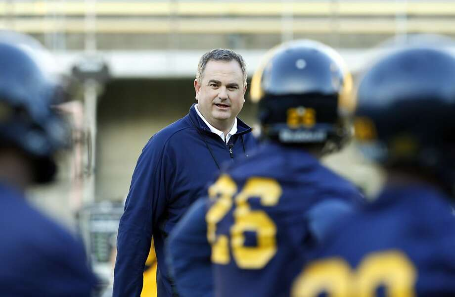 Head coach Sonny Dykes watches practice on Monday afternoon. First practice for Cal Football under new head coach Sonny Dykes at Memorial Stadium in Berkeley, Calif, on Monday, February 25, 2013. Photo: Carlos Avila Gonzalez, The Chronicle