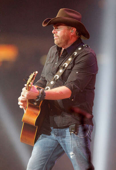 Toby Keith performs during the Houston Livestock Show and Rodeo at Reliant Stadium Monday, Feb. 25,