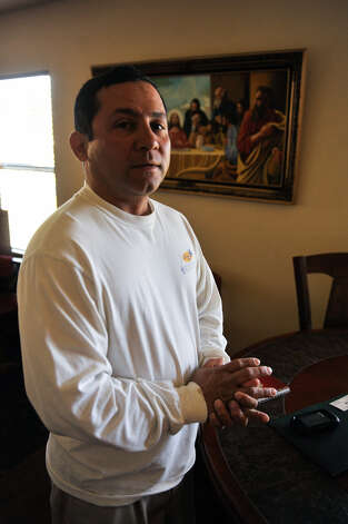 Jose Mata discusses the death of his son, Jose Mata Jr., who was killed in an exchange of gunfire while fleeing law officers in a stolen car Friday. Photo: Robin Jerstad / For The San Antonio Express-News