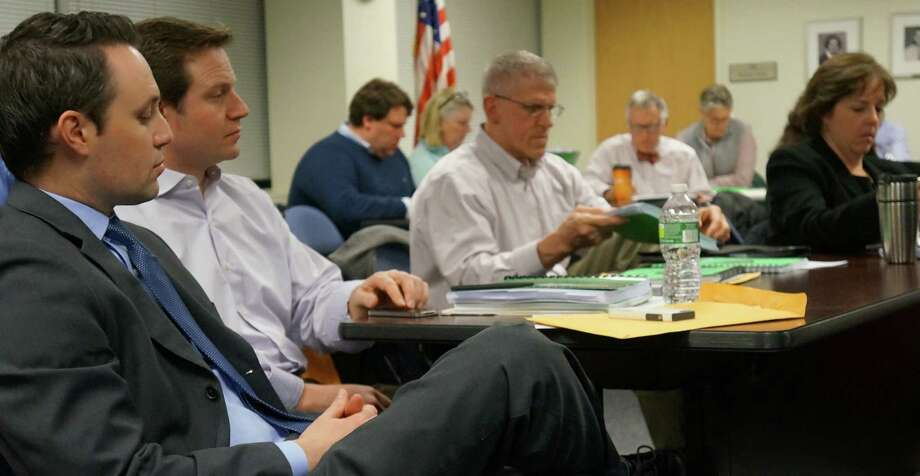 Representative Town Meeting members at Monday night's session in the Education Center where action was delayed on bonding for capital projects when members raised a series of questions.  FAIRFIELD CITIZEN, CT 2/25/13 Photo: Genevieve Reilly / Fairfield Citizen