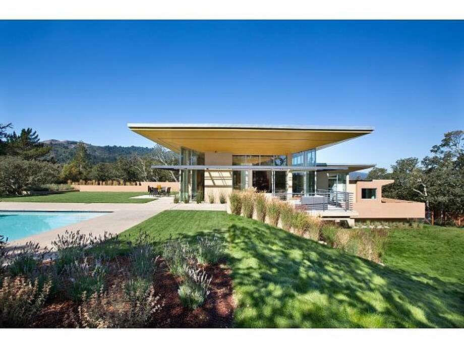 One of the most expensive listings in Portola Valley is this modern creation at 1 Grove Court, listed for $7.25 million. It has just three bedrooms and three-and-a-half baths spread over 5,150 square feet.