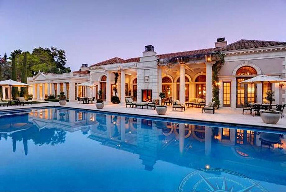 One of the most expensive listings in Atherton at $34.89 million, the house at 236 Park Lane has six bedrooms and seven-and-a-half baths. The decor is a bit stuffy, in the Daddy Warbucks vein, but hey -- if you're shopping in this price range, you probably have a decorator on retainer.