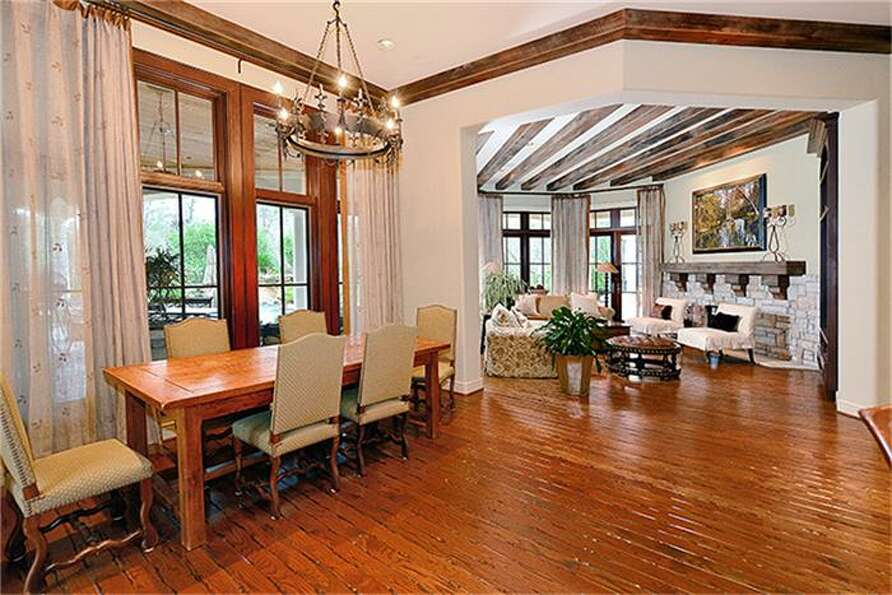Inviting breakfast area. Custom handcrafted wood floors add a timeless aura.