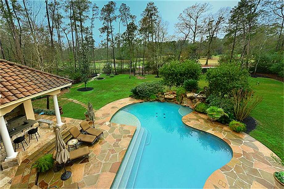 The Woodlands Palmer Course (Deacon #1) from spacious balcony which is accessed from guest suite, theater, and game room. Photo: Better Homes And Gardens Real Estate Gary Greene