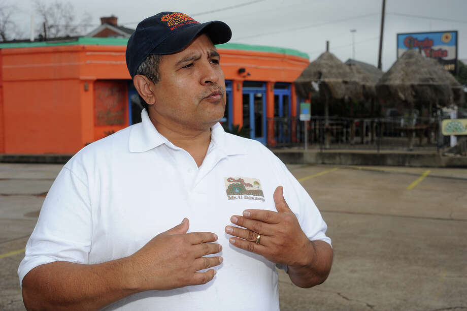 Longtime chef of the Chula Vista Mexican Restaurant, Eulalio Ocampo says that his cookbook is locked inside the now closed eatery.   Photo taken Thursday, February 21, 2013 Guiseppe Barranco/The Enterprise Photo: Guiseppe Barranco, STAFF PHOTOGRAPHER / The Beaumont Enterprise